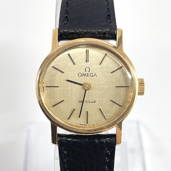 OMEGA Watches De Ville Hand Winding vintage Stainless Steel/leather gold Women Used