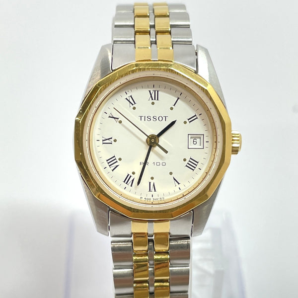 TISSOT Watches P330/430 Quartz PR100 vintage Stainless Steel gold Silver Women Used