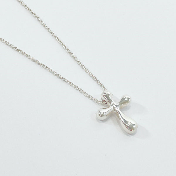 TIFFANY&Co. Necklace Cross mini Elsa Peretti Silver925 Silver Women Used