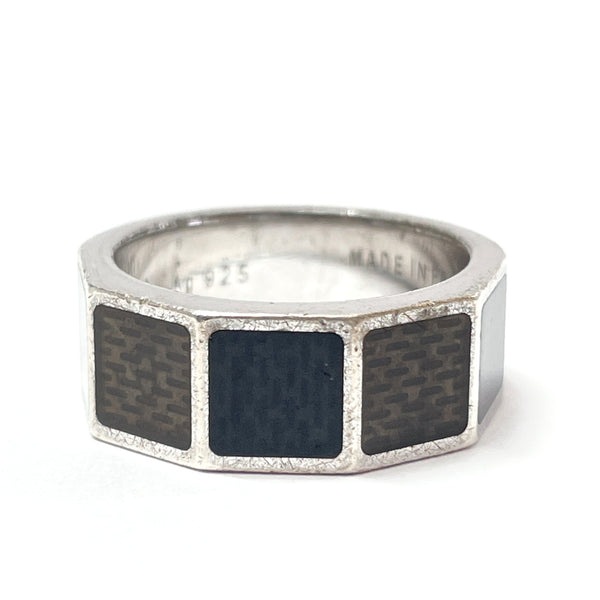 LOUIS VUITTON Ring M65714 Berg Damier 4 Silver925 16 Silver Black Women Used