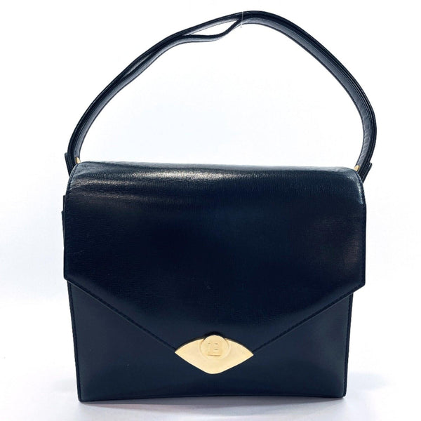 BALLY Handbag vintage leather Navy Women Used
