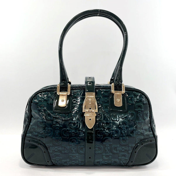 GUCCI Handbag 145770 Horsebit PVC/Gold Hardware green gold Women Used