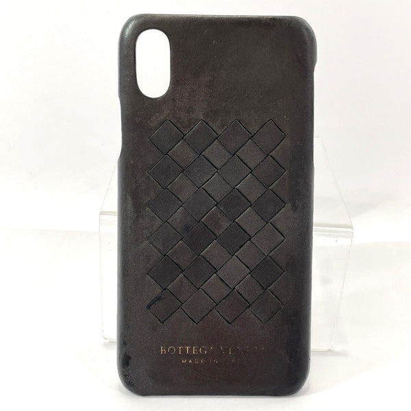 BOTTEGAVENETA Other fashion goods iPhone X XS case Intrecciato leather Black unisex Used