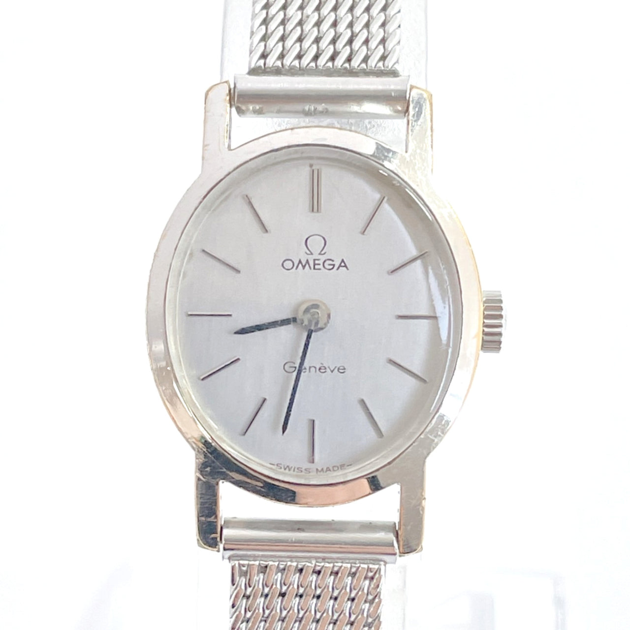 OMEGA Watches Geneva Hand Winding vintage Stainless Steel Silver Women Used