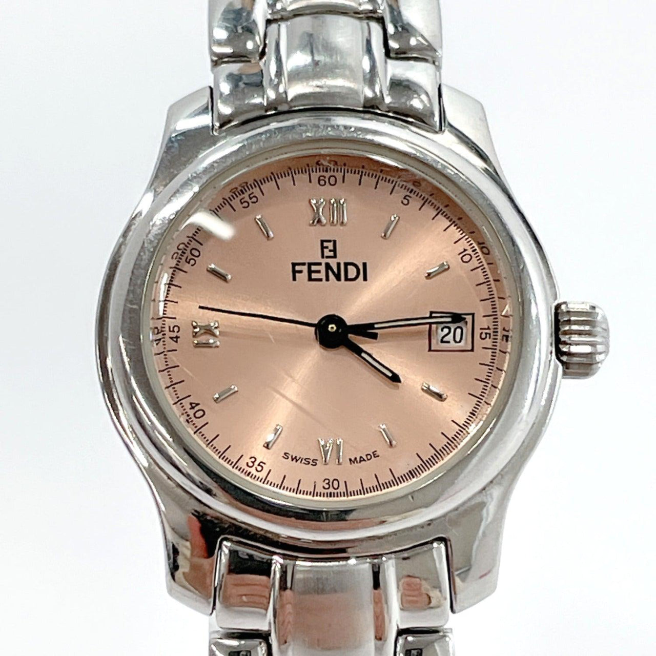 FENDI Watches 210L quartz Stainless Steel Silver Women Used