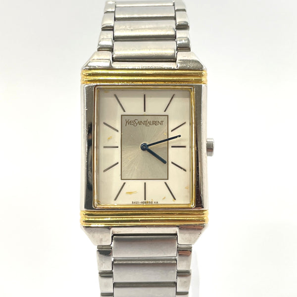 YVES SAINT LAURENT Watches 5421-H04724Y quartz vintage Stainless Steel Silver white Women Used