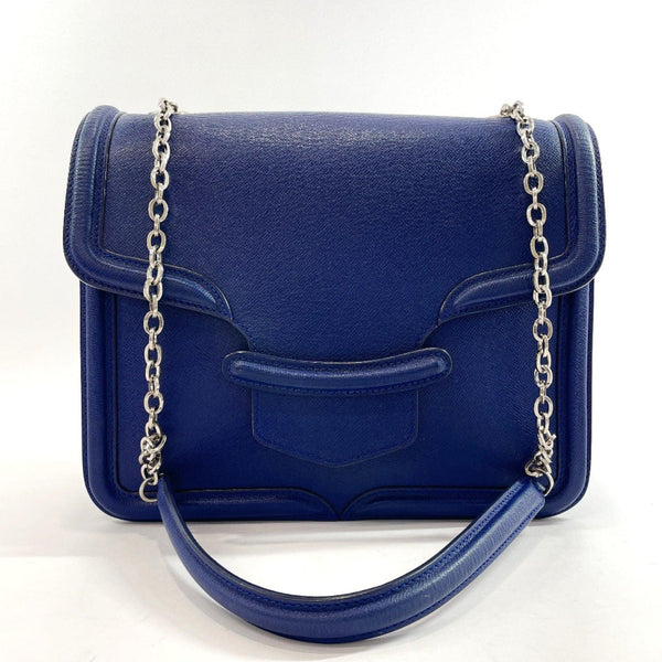 Alexander McQueen Shoulder Bag 544483 ChainShoulder leather/Suede blue Women Used