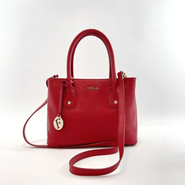 Furla Handbag 2way leather Red Women Used