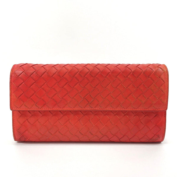 BOTTEGAVENETA purse 150509 Intrecciato leather Red Women Used