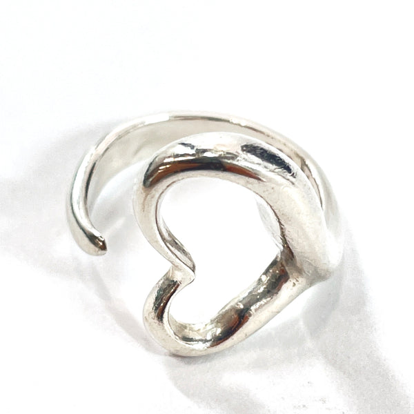 TIFFANY&Co. Ring Open heart Elsa Peretti Silver925 10 Silver Women Used