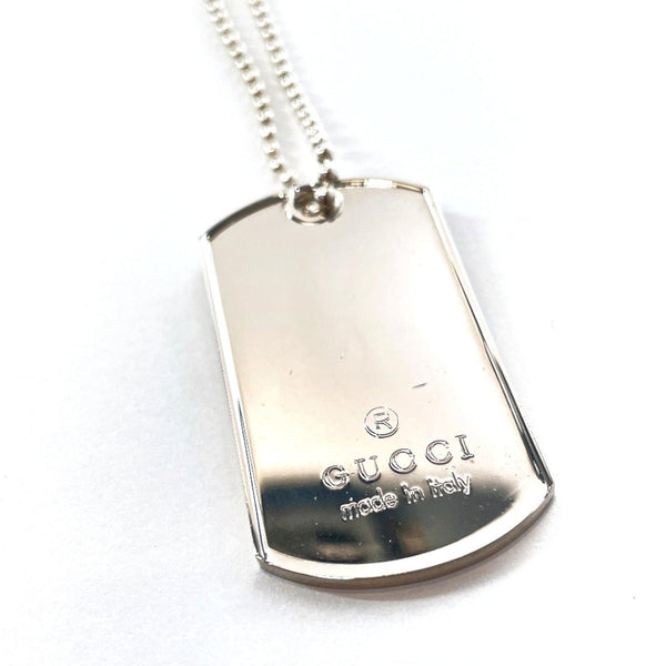 GUCCI Necklace 1561 F1 Dog tag Ball chain Silver925 Silver mens Used