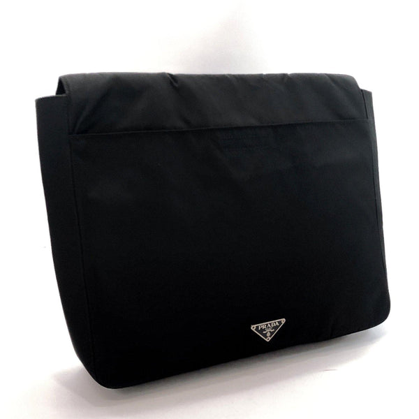 PRADA Clutch bag Nylon black mens Used