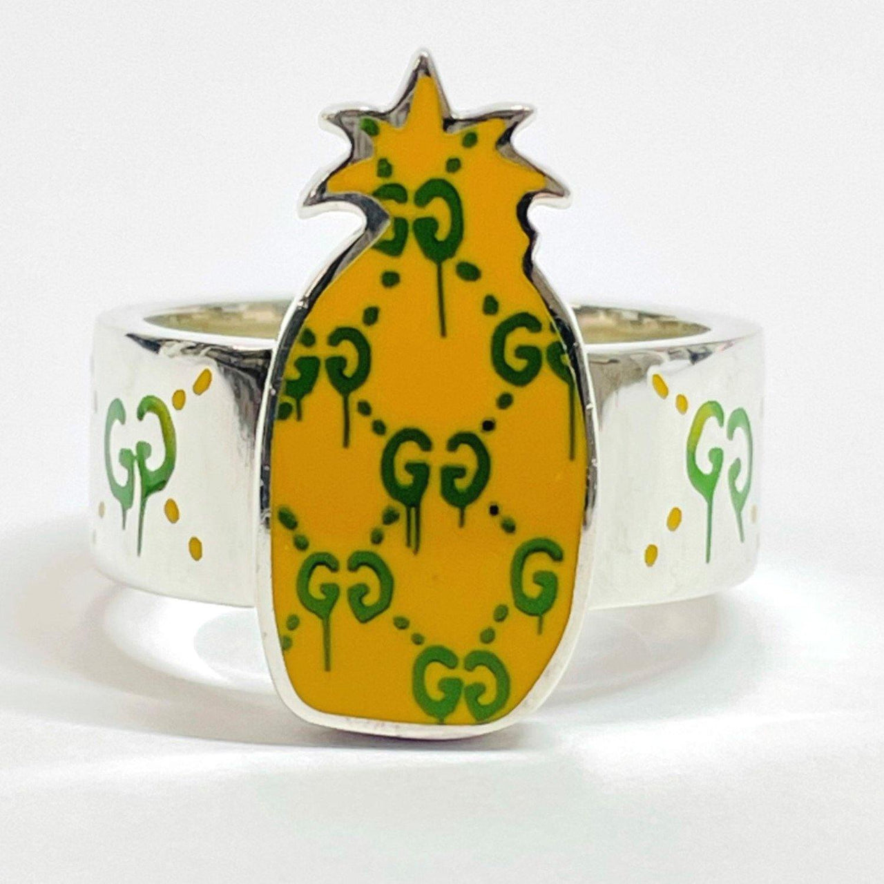 GUCCI Ring Ghost ring pineapple Silver925 19 Silver yellow mens Used - JP-BRANDS.com