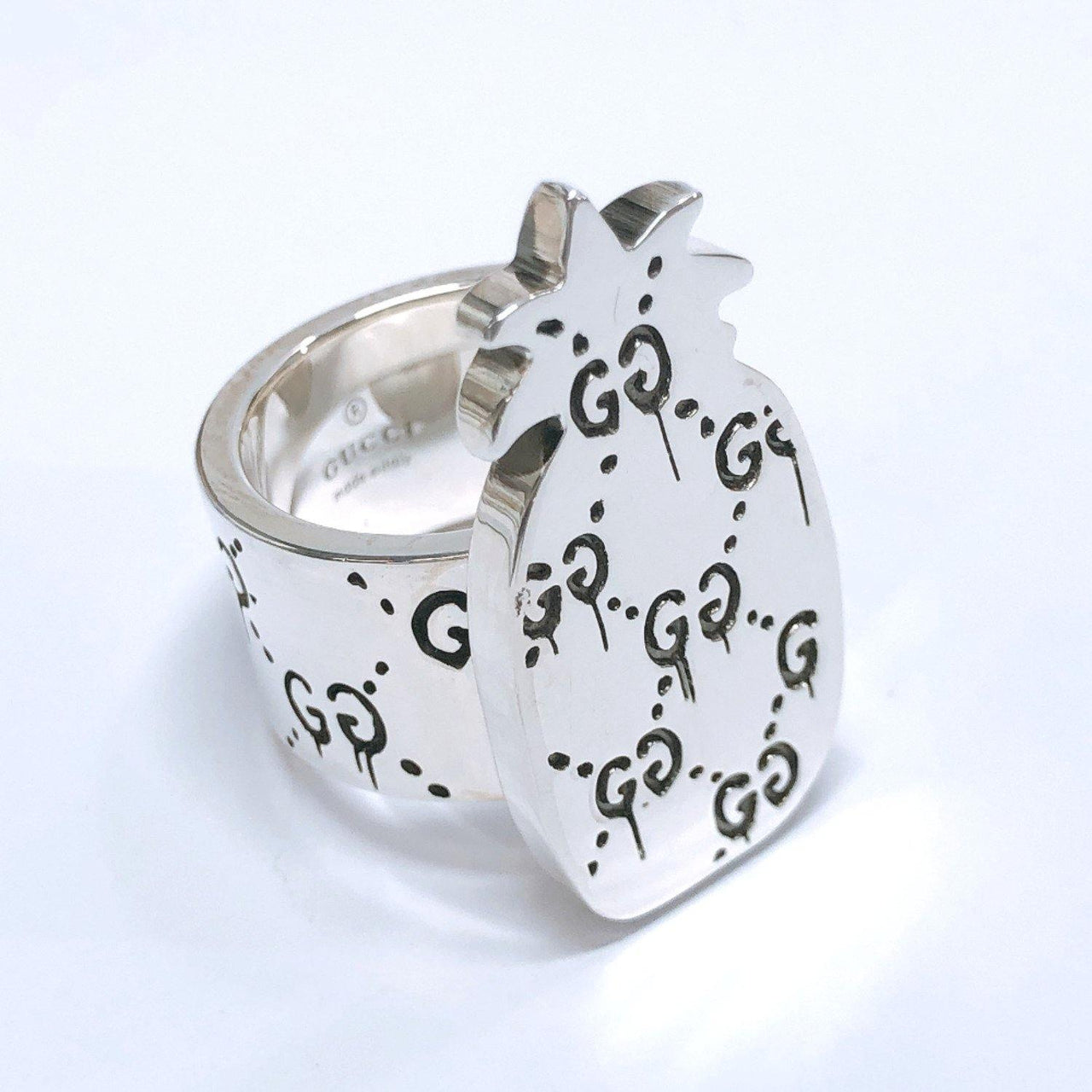 GUCCI Ring Ghost ring pineapple Silver925 14 Silver unisex Used - JP-BRANDS.com
