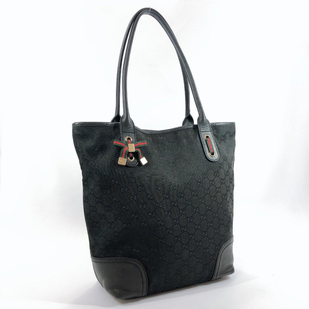 GUCCI Tote Bag 181779 Sherry Prince GG canvas black Women Used - JP-BRANDS.com