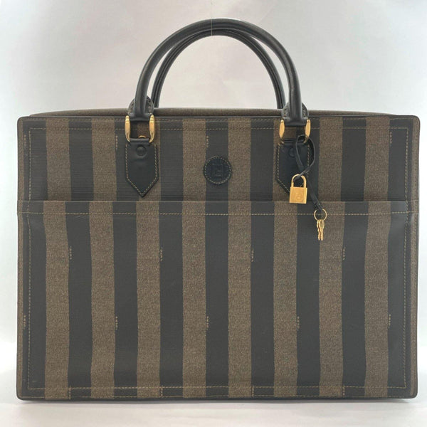 FENDI Boston bag Pecan vintage PVC Brown mens Used