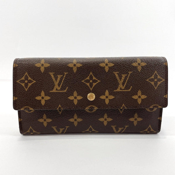 LOUIS VUITTON purse M61215 Porte Tresor International Monogram canvas Brown Women Used