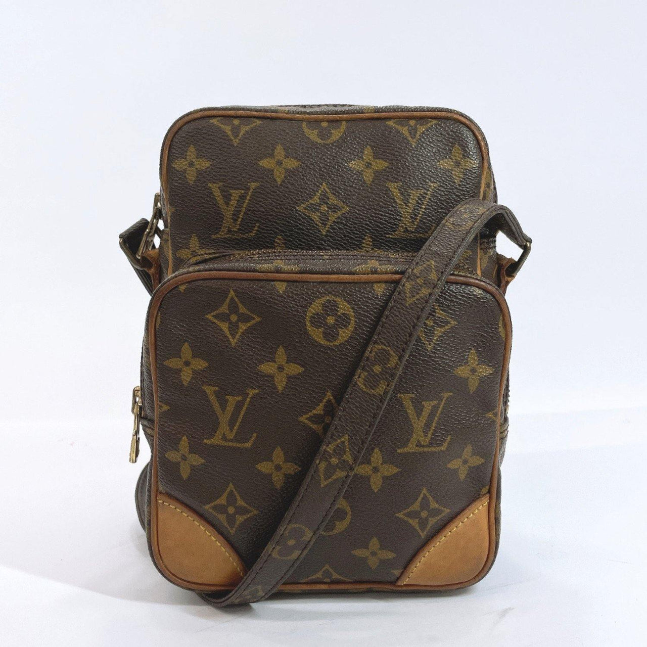 LOUIS VUITTON Shoulder Bag M45236 Amazon Monogram canvas Brown Women Used