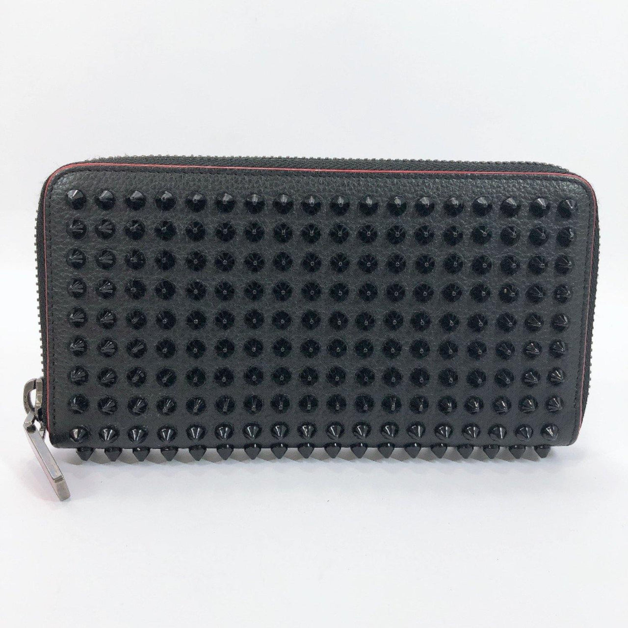 Christian Louboutin purse 1165044 Round zip Panettone studs leather black Women Used - JP-BRANDS.com