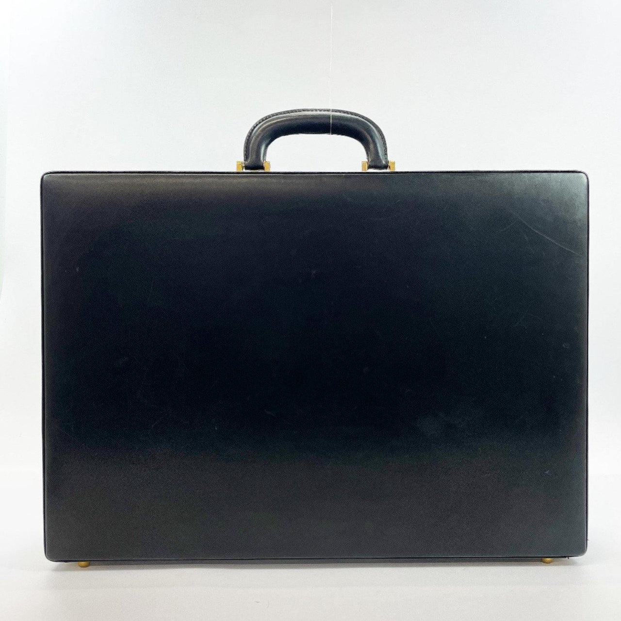 BALLY Business bag Attache case leather black mens Used - JP-BRANDS.com