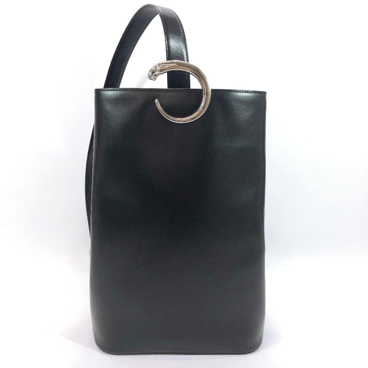 CARTIER Shoulder Bag PANTHERE Vintage leather black Women Used - JP-BRANDS.com