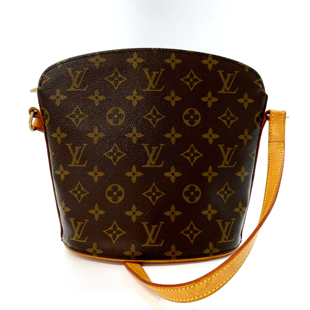 LOUIS VUITTON Shoulder Bag M51290 Drouot Monogram canvas Brown Women Used
