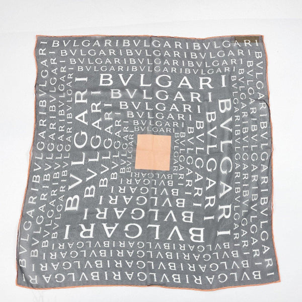 BVLGARI scarf Pocket chief silk black unisex Used - JP-BRANDS.com