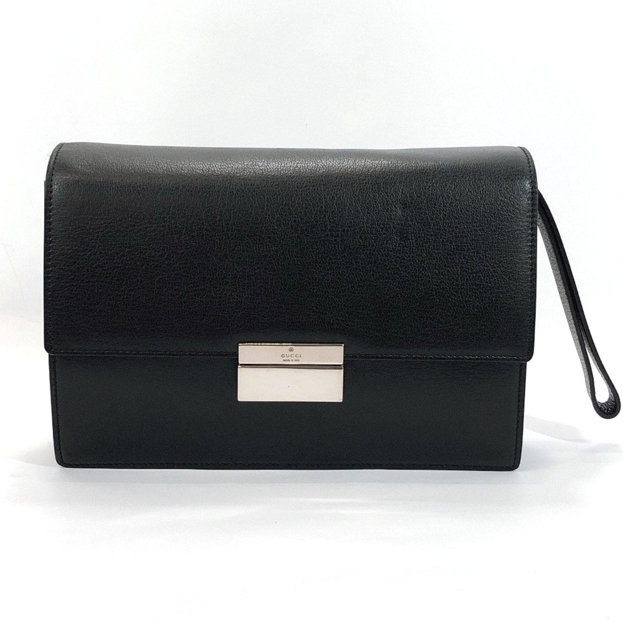 GUCCI Clutch bag 3137 leather black unisex Used - JP-BRANDS.com