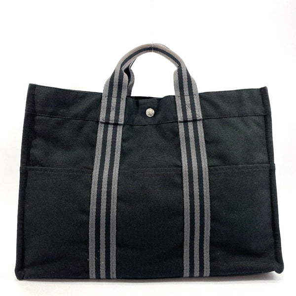 HERMES Tote Bag fool toe MM Towar Officier black SilverHardware unisex Used