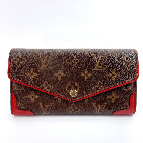 LOUIS VUITTON purse M61184 Portefeiulle Sara Retiro Monogram canvas Brown Red Women Used