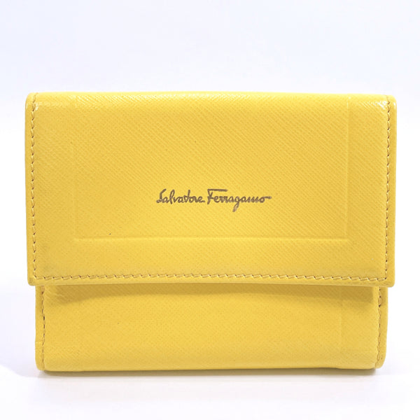Salvatore Ferragamo wallet 22C407 leather yellow Women Used