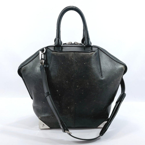 Alexander Wang Handbag Emile 2way leather black Women Used