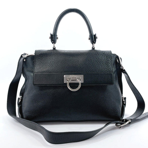 Salvatore Ferragamo Handbag BW-21A896 Gancini 2WAY leather black Women Used