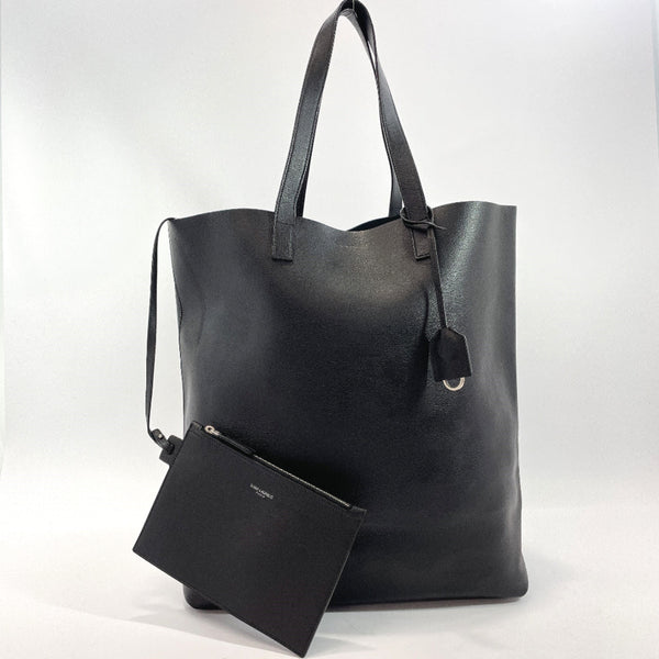 SAINT LAURENT PARIS Tote Bag 396906 Shopping tote leather black mens Used
