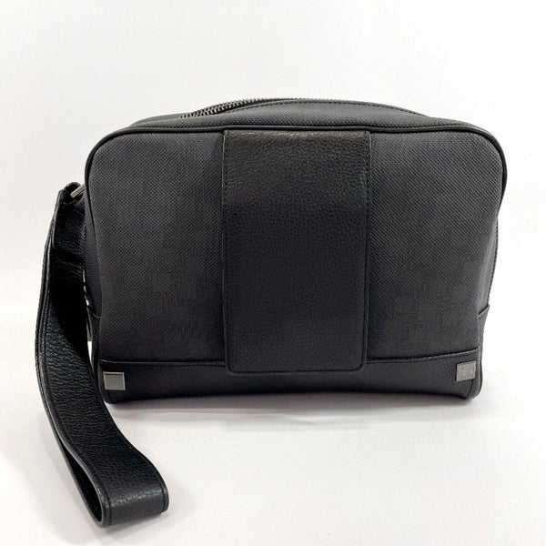 Dunhill business bag PVC/leather Black Dark gray mens Used