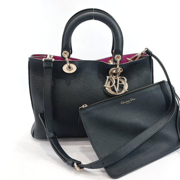 Christian Dior Handbag M09020TRL Diorissimo 2way leather black Women Used