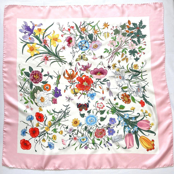 GUCCI scarf V.ACCORNERO pink Women Used