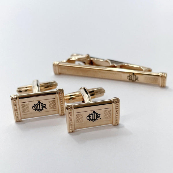 Christian Dior cuffs Tie pin & cufflinks metal gold mens Used