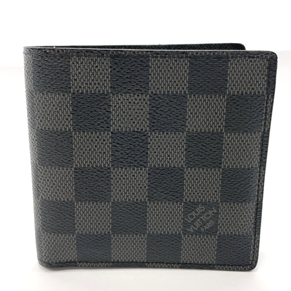 LOUIS VUITTON wallet N63336 Portefeiulle Marco Damier Grafitto Canvas black mens Used