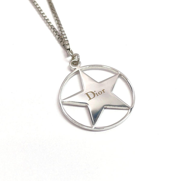 Christian Dior Necklace choker Star metal Silver Women Used