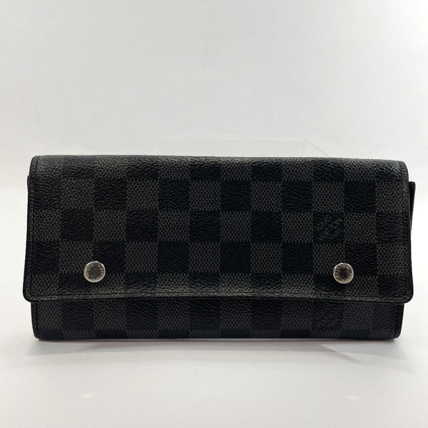 LOUIS VUITTON purse N63084 Bill Compartment Portefeiulle Ron Modular Damier Grafitto Canvas black mens Used