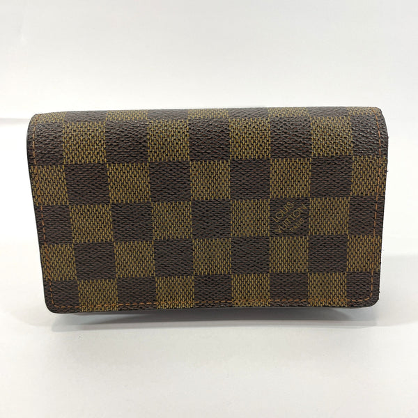 LOUIS VUITTON wallet N61736 Portefeiulle Tresol Damier canvas Brown Women Used