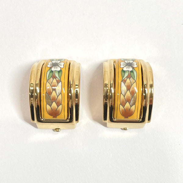 HERMES Earring Emile metal gold Women Used