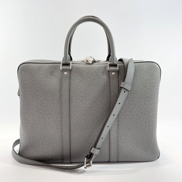 LOUIS VUITTON Business bag M30640 Porte Documan Voyagej Taiga gray SilverHardware mens Used