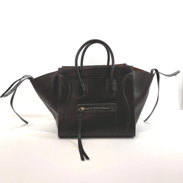 CELINE Tote Bag 169953SCA Luggage phantom leather Dark brown Women Used