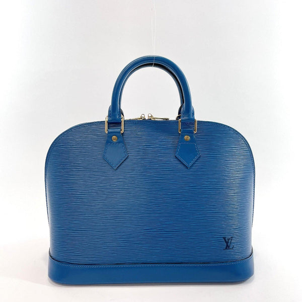 LOUIS VUITTON Handbag M52145 Alma Epi Leather blue Women Used