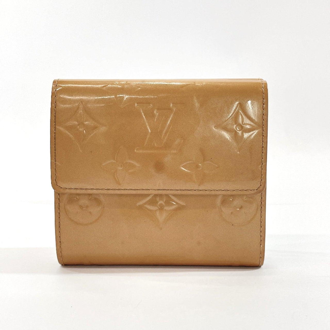 LOUIS VUITTON purse M91167 Portonet Bie Cult Credit Monogram Vernis beige Women Used