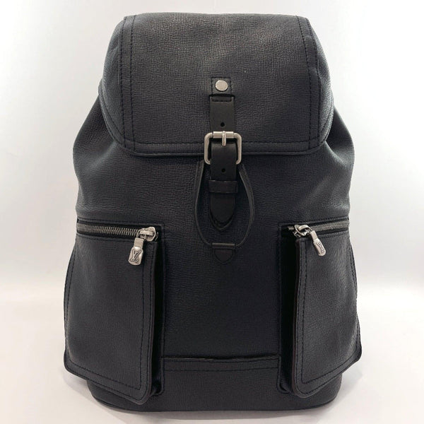 LOUIS VUITTON Backpack Daypack M54960 Canyon backpack leather/Utah Black mens Used