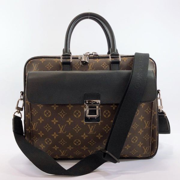 LOUIS VUITTON Briefcase M56719 Soft briefcase 2WAY Monogram macacer Brown Black mens Used