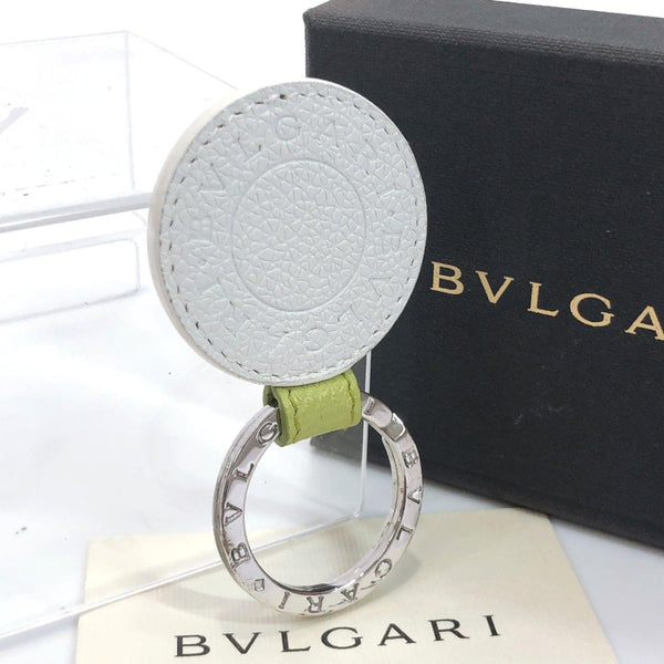 BVLGARI key ring 23'717 Key ring Sterling Silver/leather Silver white mens Used